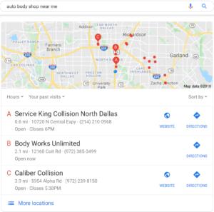 auto body shops in dallas